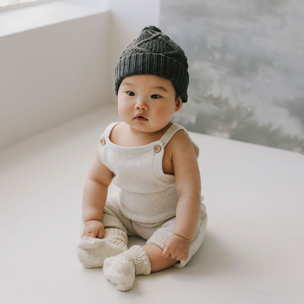 Jamie Kay Maple - Organic Cotton Scout Romper - Oatmeal-Clothing-BabyDonkie