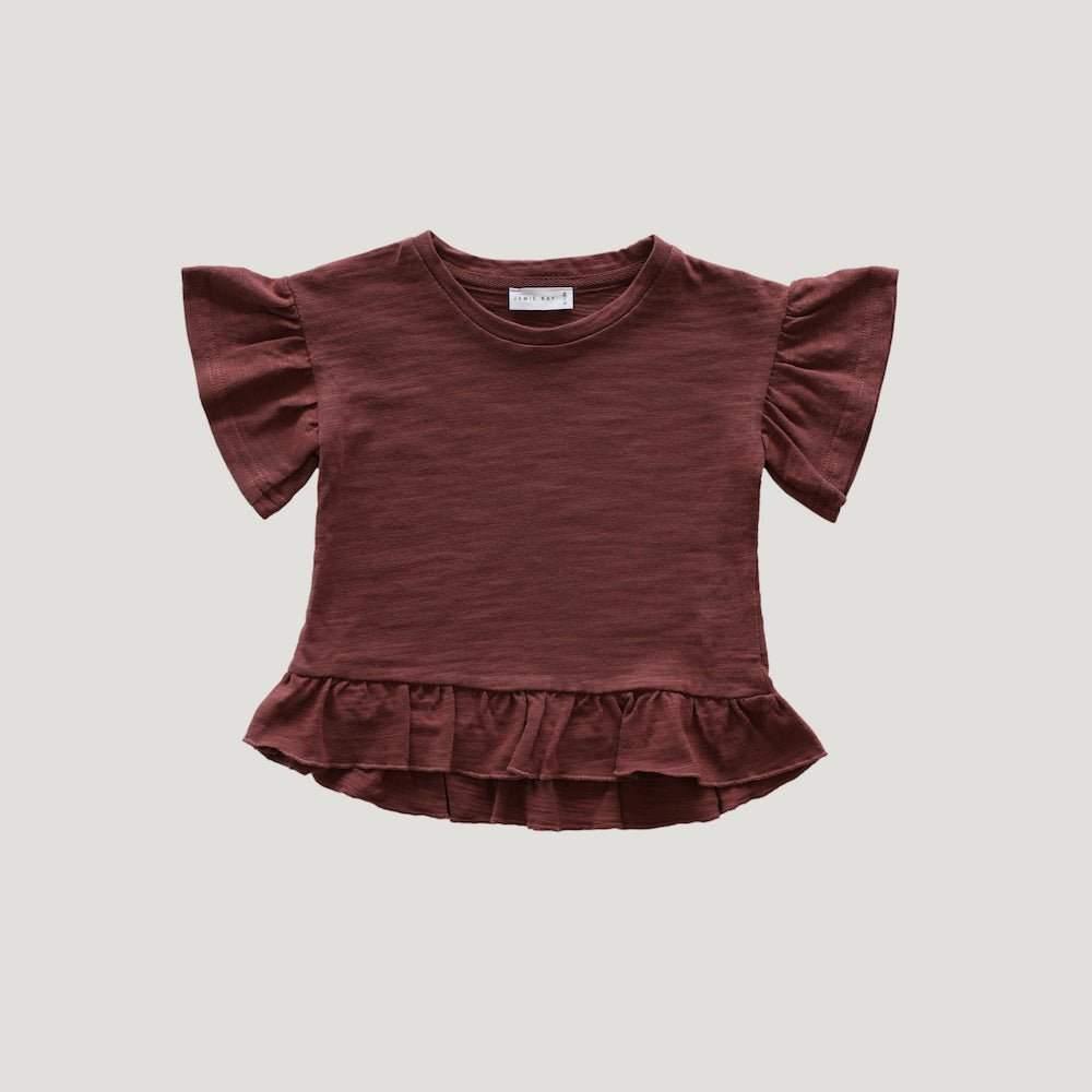 Jamie Kay Maple Organic Cotton Eden Top - Clay-Clothing-BabyDonkie