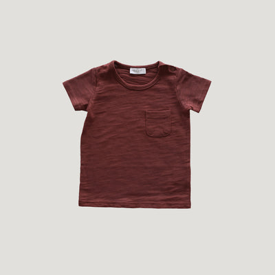 Jamie Kay Maple Organic Cotton Sam Tee - Clay-Clothing-BabyDonkie