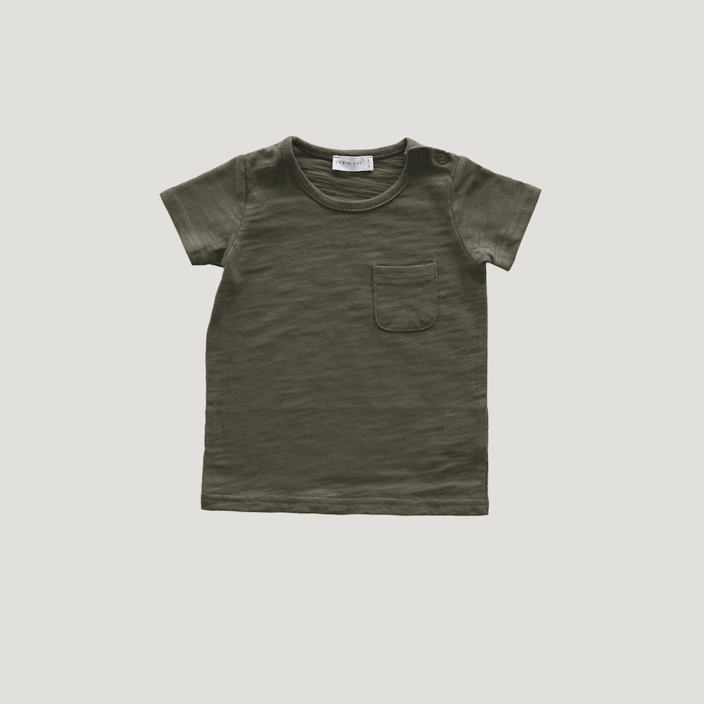 Jamie Kay Maple Organic Cotton Sam Tee - Hunter-Clothing-BabyDonkie