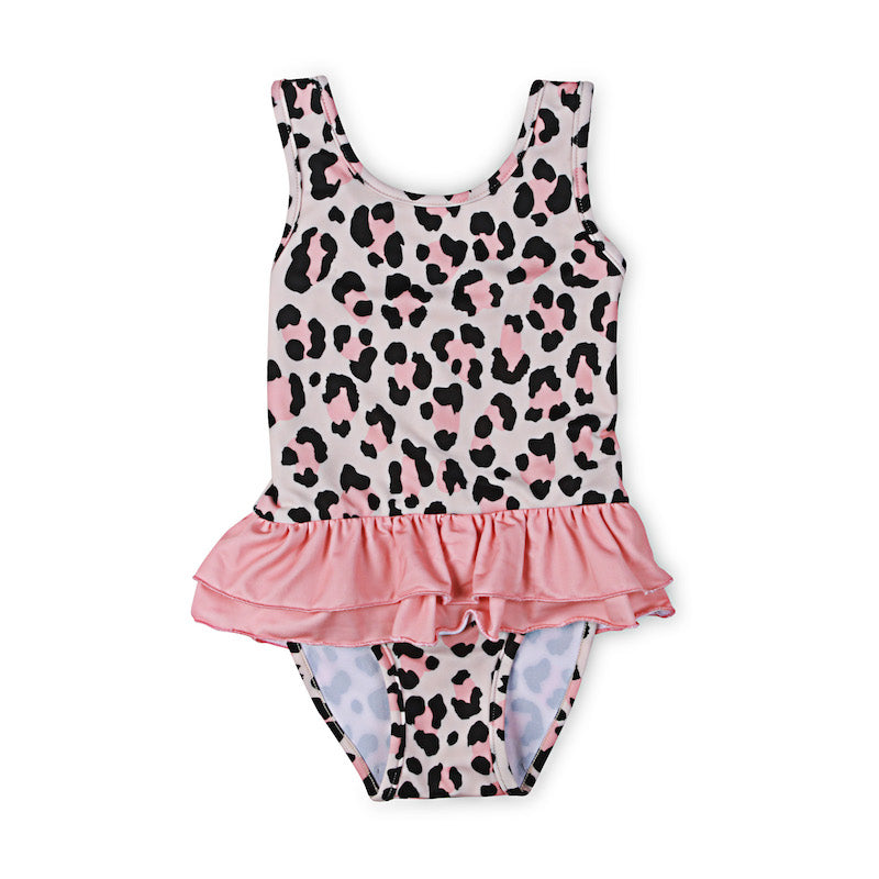 Kapow Kids Cheetah Ruffle Bathers-Clothing-BabyDonkie