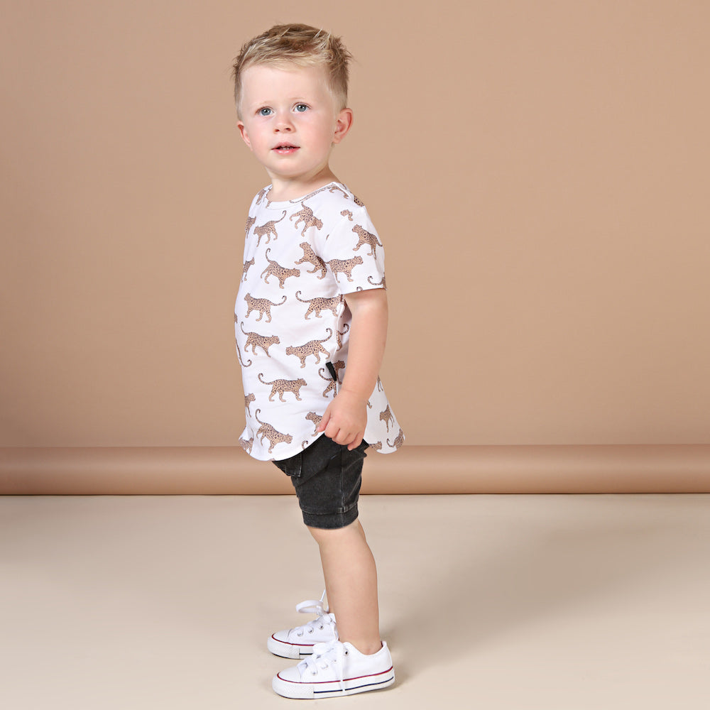 Kapow Kids Leopard T-Shirt-Clothing-BabyDonkie