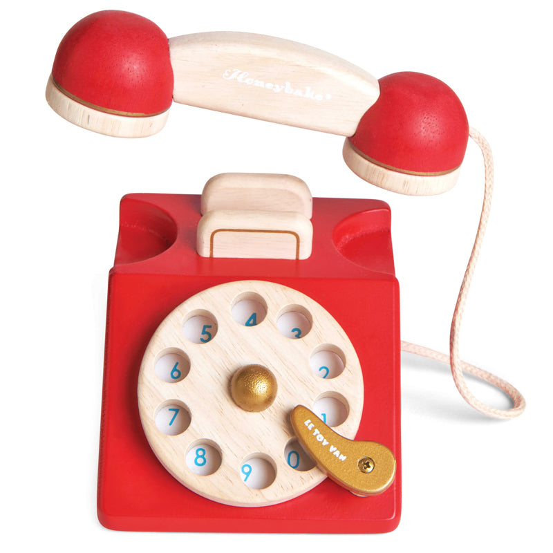 Le Toy Van HoneyBake Wooden Vintage Phone-BabyDonkie