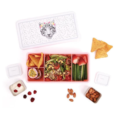 Love Mae Kids Lunch Box - Floral Tiger-Accessories-BabyDonkie