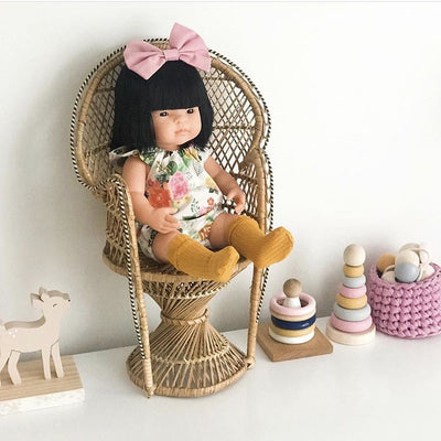 Miniland Doll Asian Girl – 38cm-Doll-BabyDonkie