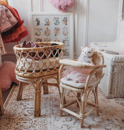 Tiny Harlow Rattan Dolls Bassinet PRE-ORDER OCTOBER