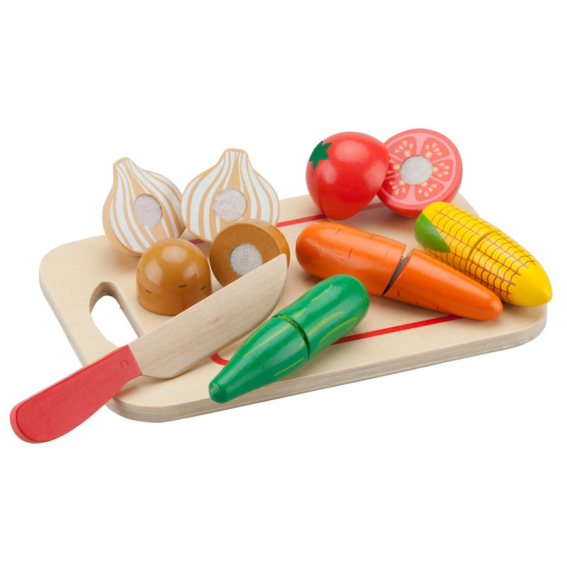 New Classic Toys - Wooden Cutting Meal Vegetables