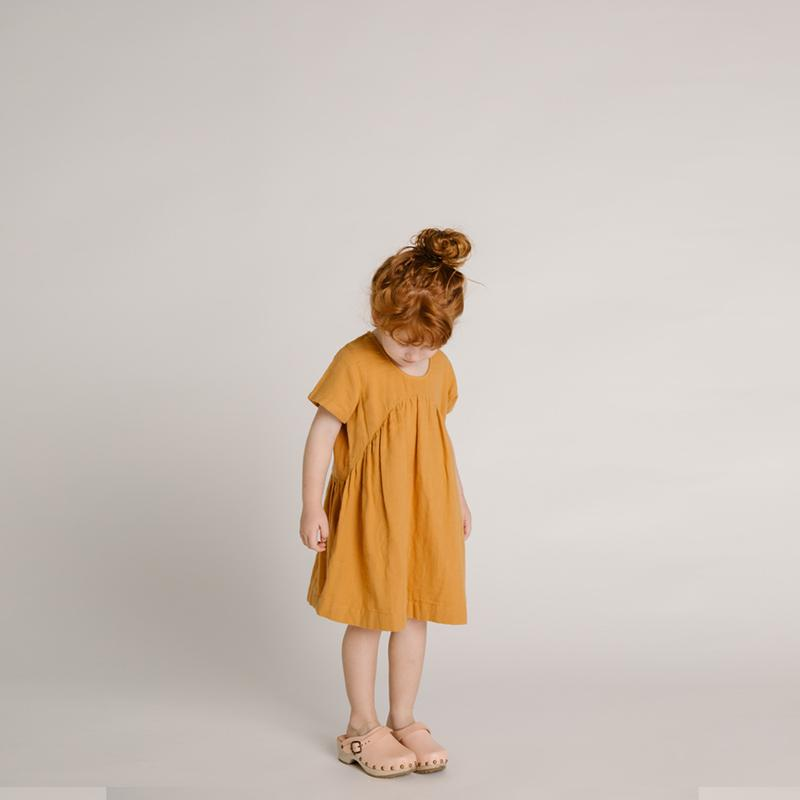 Olli Ella Wares - Clover Toddler Dress - Gold