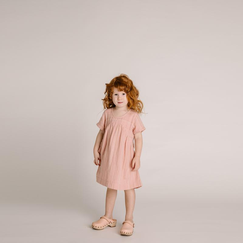 Olli Ella Wares - Clover Toddler Dress - Rose Stripe
