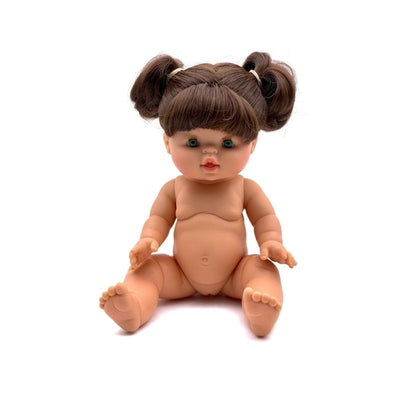 Paola Reina Gordis - DAISY - Brunette Doll with Pigtails 34 cm-Doll-BabyDonkie