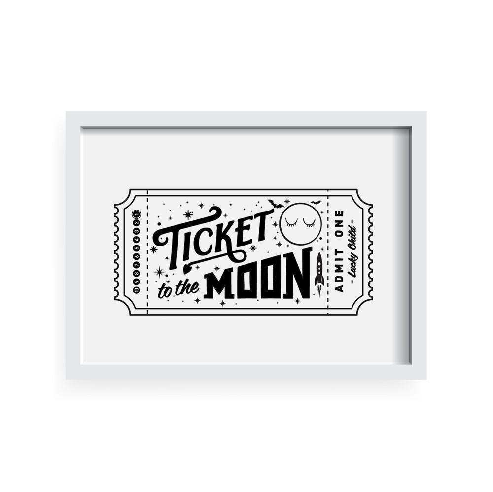 Ticket To The Moon A3 Print
