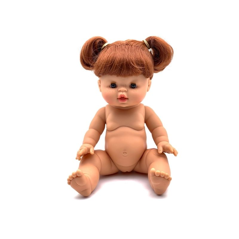 Paola Reina Gordis - SUMMER - Red Head Doll with Pigtails 34 cm