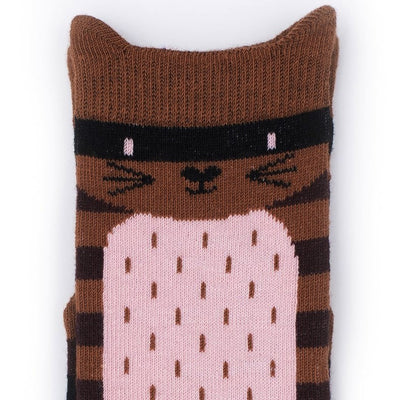Billy Loves Kitty Cat Stripe Socks-Clothing-BabyDonkie