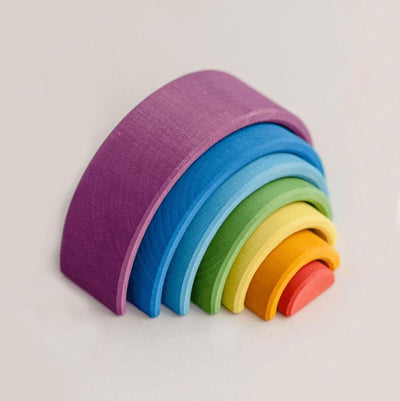 Raduga Grez Wooden Toy Rainbow Arch Stacker - Sunset Small-Toys-BabyDonkie