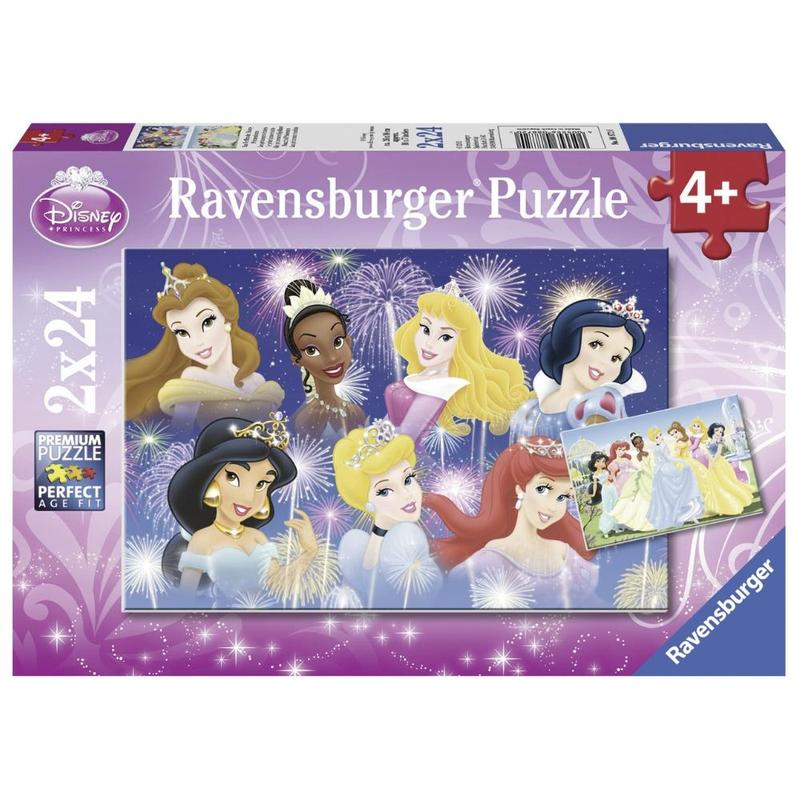 Ravensburger Puzzle - Disney Princesses Gathering 2x24 pieces-Puzzle-BabyDonkie