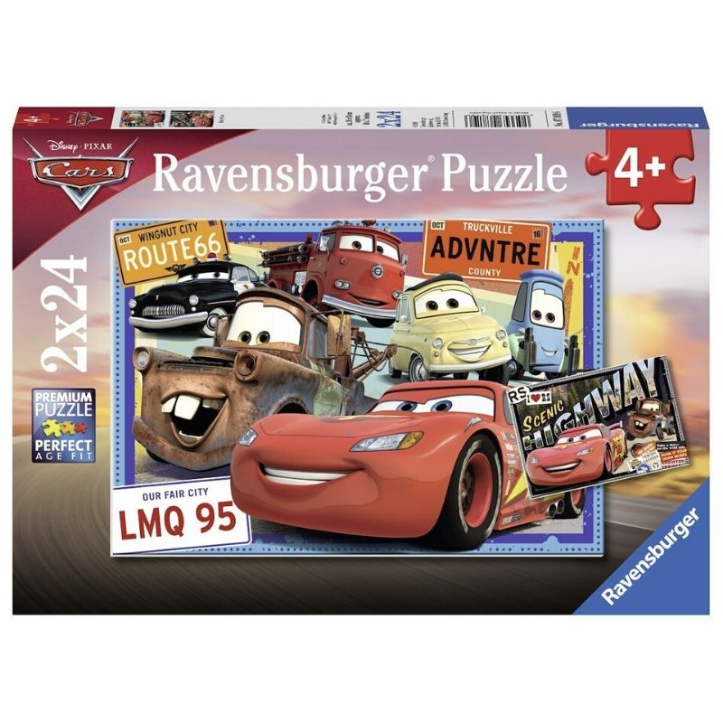 Ravensburger Puzzle - Disney Two Cars Puzzle 2x24 pieces-Puzzle-BabyDonkie