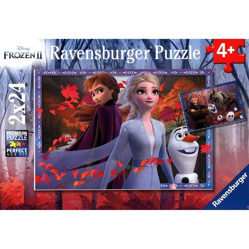 Ravensburger Puzzle - Frozen 2 Frosty Adventures 2x24 pieces-Puzzle-BabyDonkie