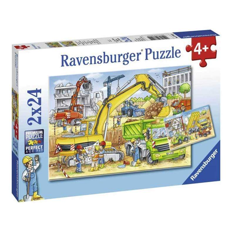 Ravensburger Puzzle - Hard at Work Puzzle 2x24 pieces-Puzzle-BabyDonkie