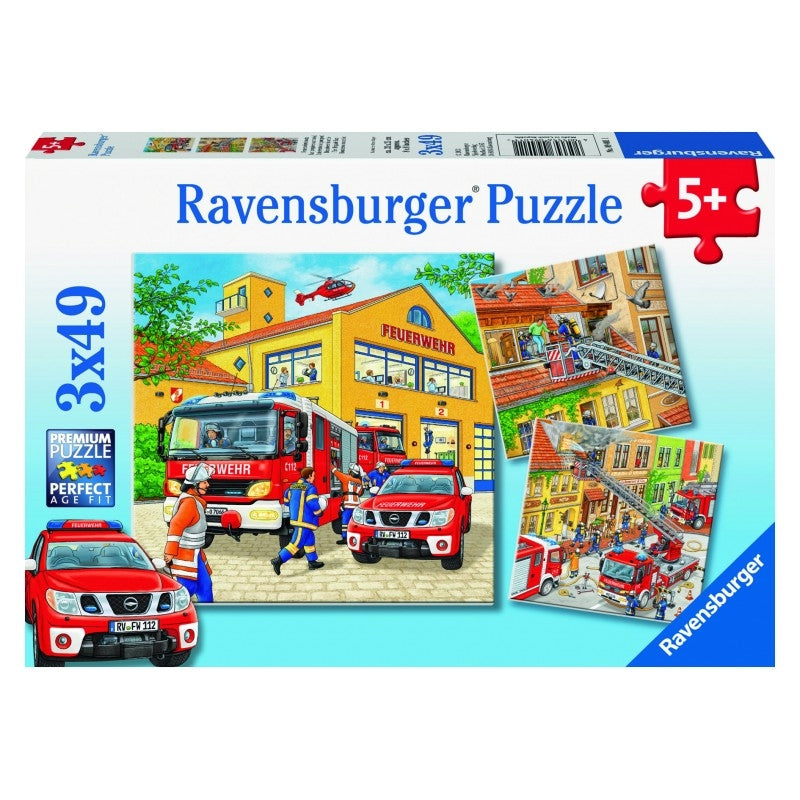 Ravensburger Puzzle - Fire Brigade Run Puzzle 3x49 pieces