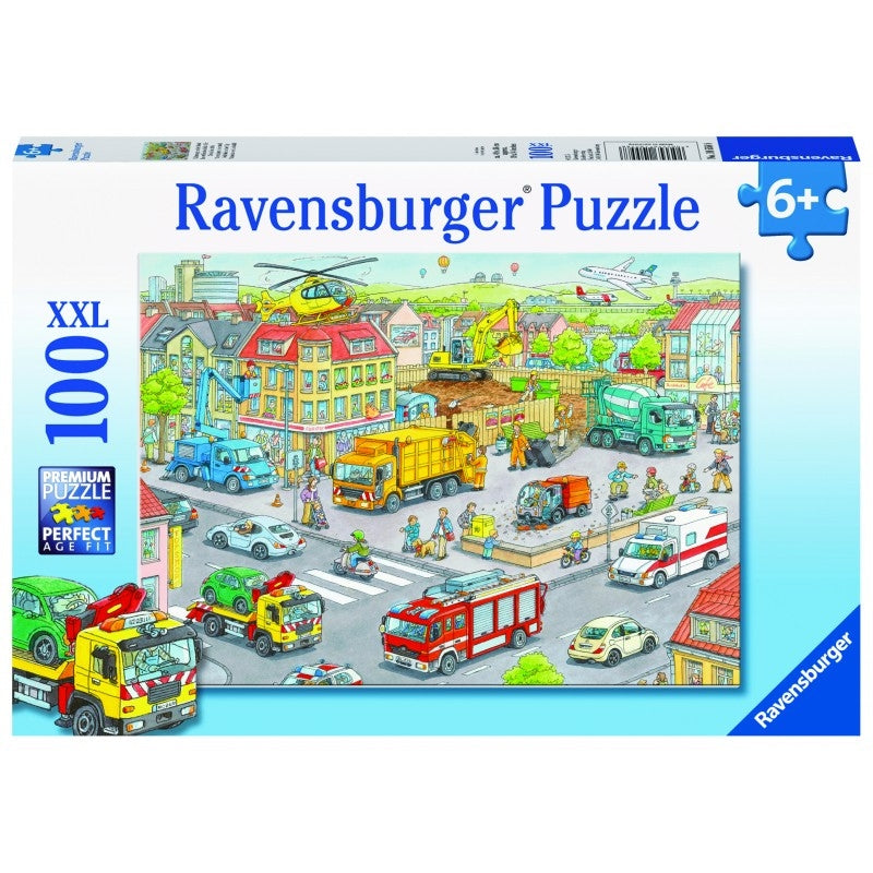 Ravensburger Puzzle - Vehicles in the City Puzzle 100 pieces-Puzzle-BabyDonkie