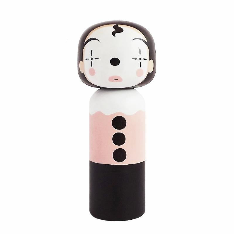 Lucie Kaas Sketch In Kokeshi Doll Clown