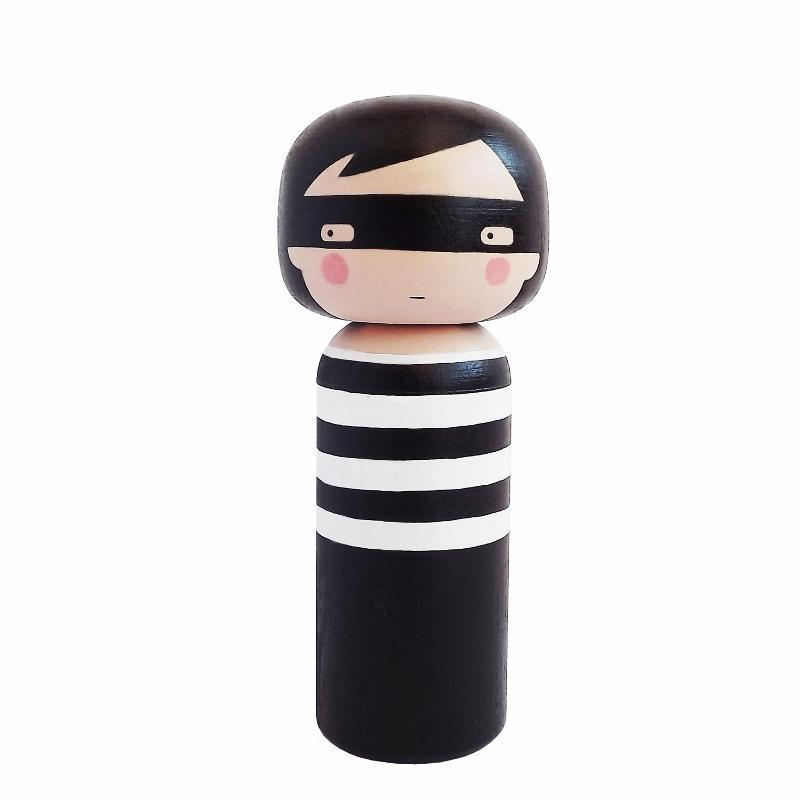 Lucie Kaas Sketch In Kokeshi Doll Thief