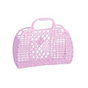 Sun Jellies Small Retro Basket - Lilac-Storage-BabyDonkie