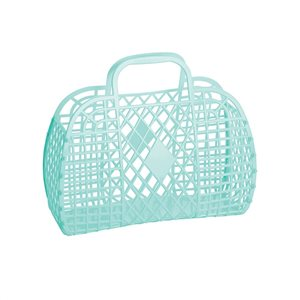 Sun Jellies Small Retro Basket - Mint