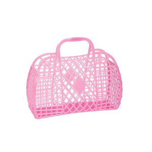 Sun Jellies Small Retro Basket - Neon Pink