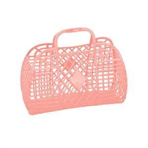 Sun Jellies Small Retro Basket - Peach-Storage-BabyDonkie