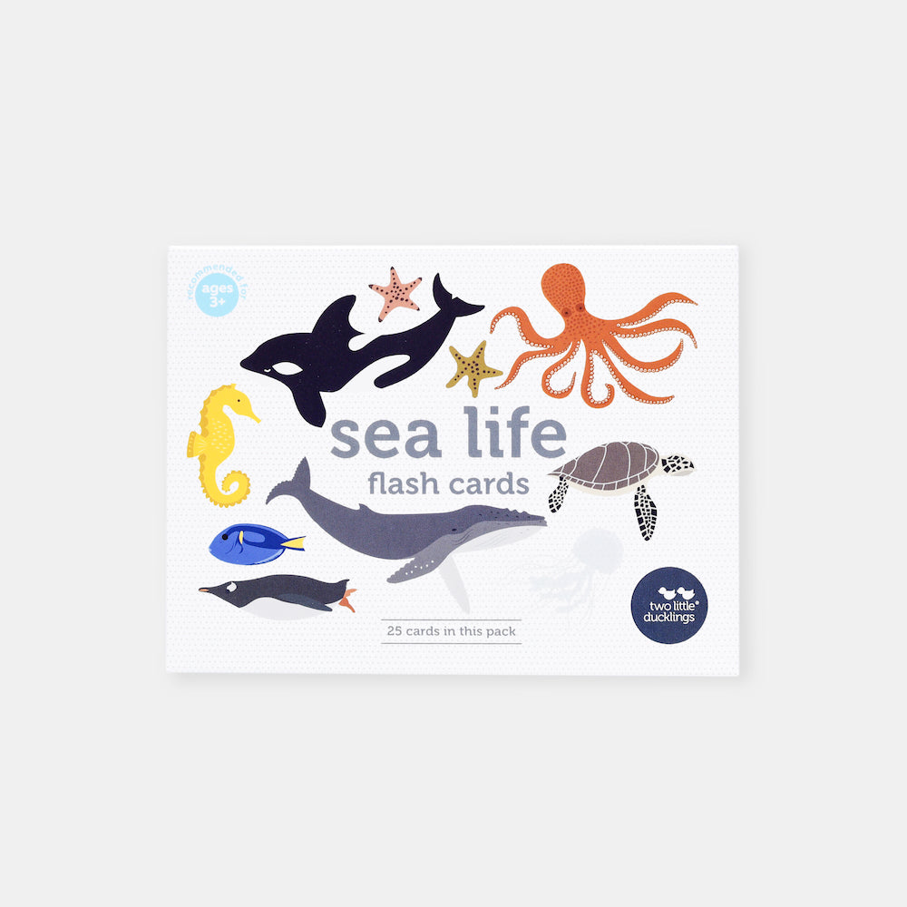 Two Little Ducklings Sea Life Flash Cards-BabyDonkie
