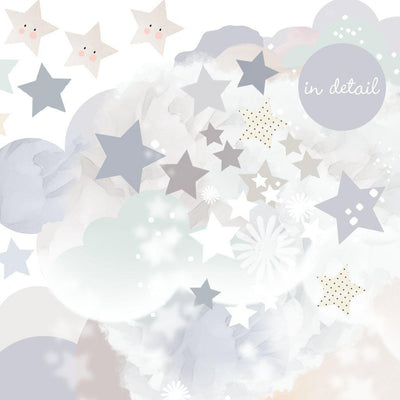 Schmooks - Sleepy Moon Wall Stickers - Blues-BabyDonkie
