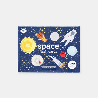 Two Little Ducklings Space Flash Cards-BabyDonkie