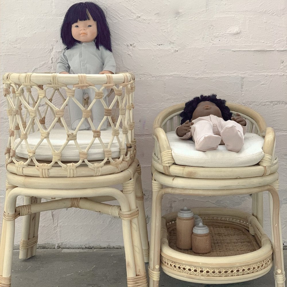 Tiny Harlow Rattan Dolls Change Table PRE-ORDER LATE AUG
