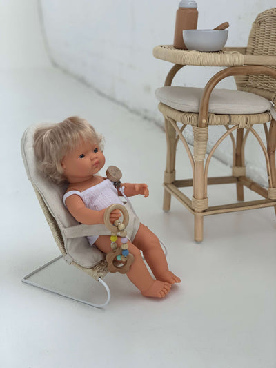 Tiny Harlow Rattan Dolls Bouncer-Toys-BabyDonkie