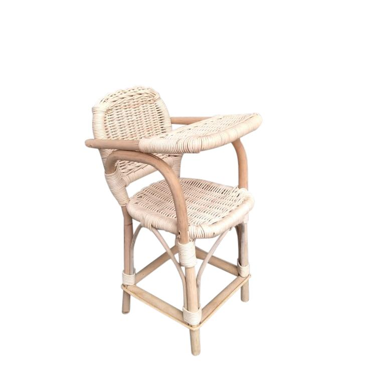 Tiny Harlow Rattan Dolls Highchair-Toys-BabyDonkie