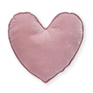 Nana Huchy Velvet Heart Cushion - Blush 40cm-Cushion-BabyDonkie