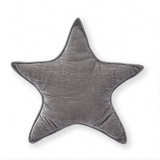 Nana Huchy Velvet Star Cushion - Grey 40cm-Cushion-BabyDonkie
