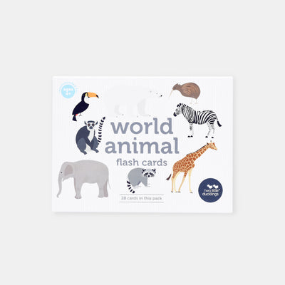 Two Little Ducklings World Animals Flash Cards-BabyDonkie