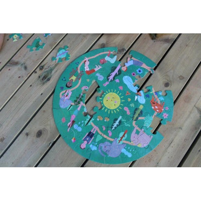 Yogi FUN Sun Salutation Yoga Puzzle - 49 pieces-Puzzle-BabyDonkie