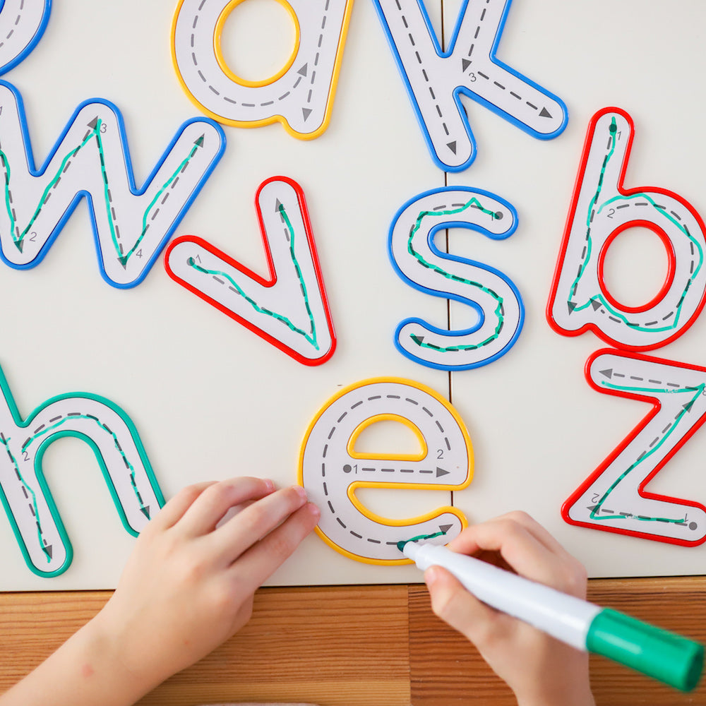 Learn and Grow Toys - Alphabet Write and Wipe Letters - Lowercase