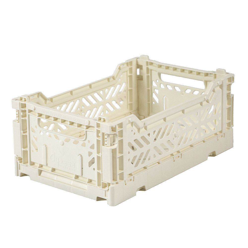 Lillemor Lifestyle Ay-Kasa Mini Folding Crate - Cream-Storage-BabyDonkie