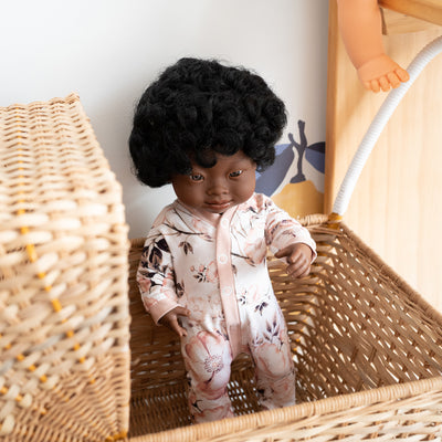 Miniland Doll African Down Syndrome Girl – 38cm-Doll-BabyDonkie