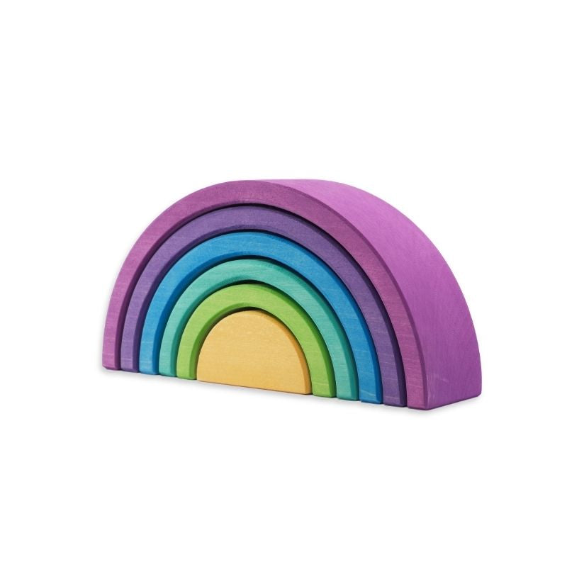 Ocamora 6 Piece Wooden Rainbow - Purple