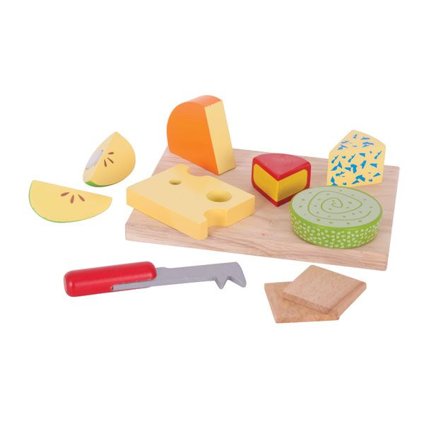 BigJigs - Wooden Toy Cheese Board Set