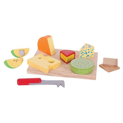 BigJigs - Wooden Toy Cheese Board Set-Toys-BabyDonkie