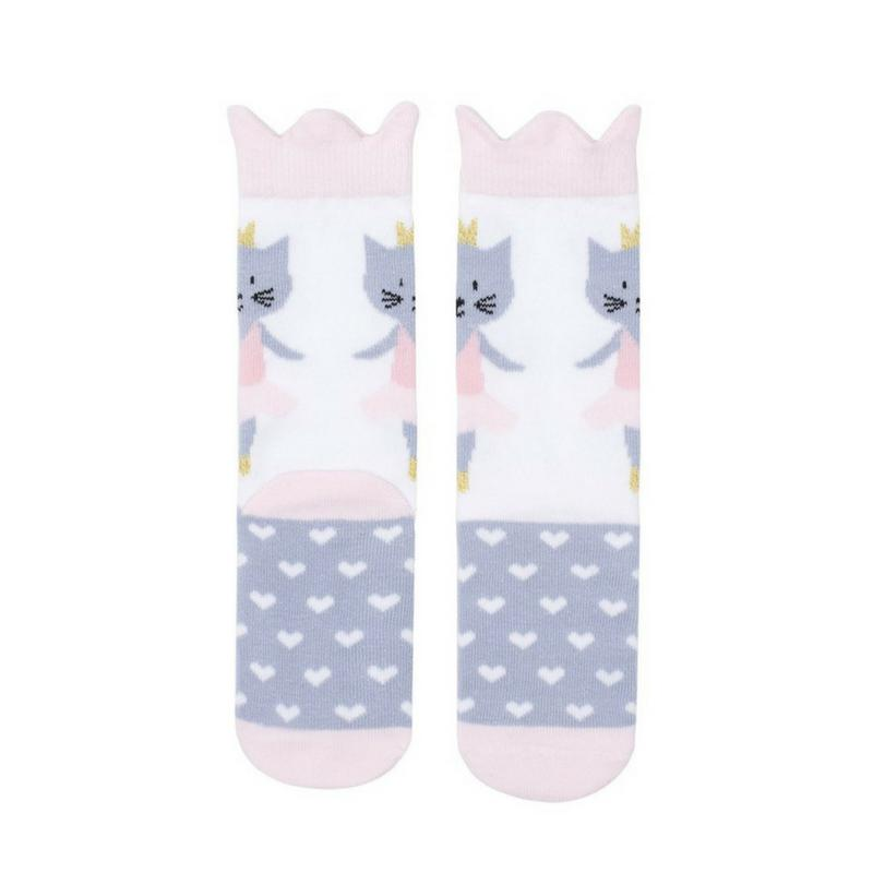 Billy Loves Audrey Ballet Cat Midi Socks-Clothing-BabyDonkie