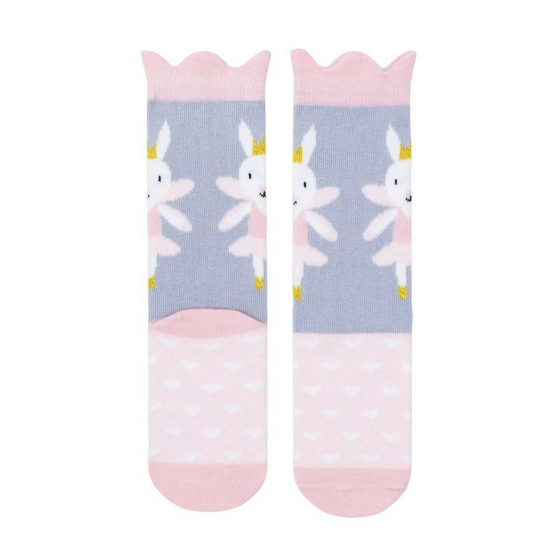 Billy Loves Audrey Ballet Rabbit Midi Socks-Clothing-BabyDonkie