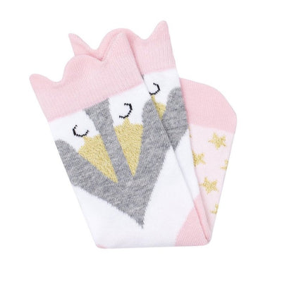 Billy Loves Audrey Ballet Swan Midi Socks-Clothing-BabyDonkie