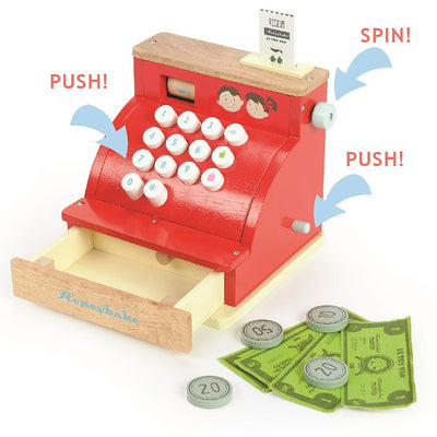 Le Toy Van HoneyBake Wooden Cash Register-Toys-BabyDonkie